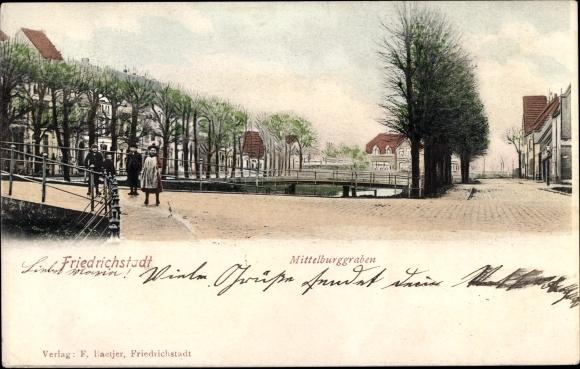 Ak Friedrichstadt an der Eider, Mittelburggraben