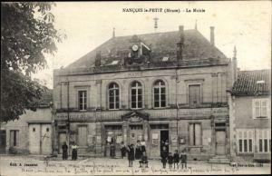 Ak Nancois le Petit Lothringen Meuse, La Mairie, Ecole des Garcons, Ecole des Filles