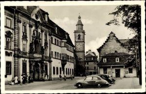Ak Erfurt in Thüringen, Platz der DSF, HO Möbel, Kirche, Autos