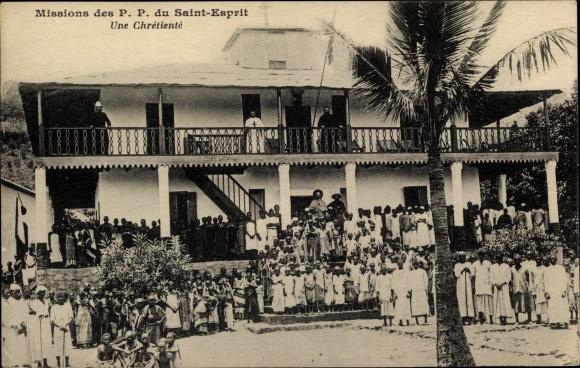 Ak Martinique, Missions des P. P. du Saint Esprit, Une Chretiente