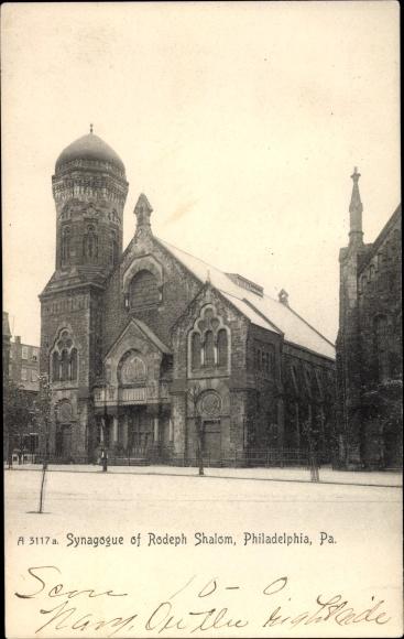 Judaika Ak Philadelphia Pennsylvania USA, Synagogue of Rodeph Shalom, Synagoge