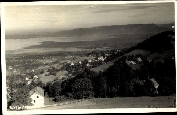 Foto Ak Wolfhalden Kt. Appenzell Ausserrhoden Schweiz, Panorama vom Ort