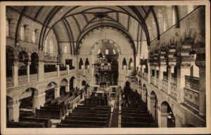 Ak Groningen Niederlande, Innenansicht der Synagoge