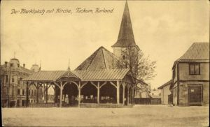 Ak Tukums Tuckum Lettland, Marktplatz, Kirche