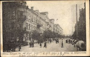 Ak Vilnius Wilna Litauen, Schopenstraße, Ul. Szopenowska