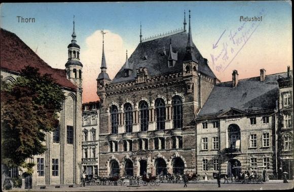 Ak Toruń Thorn Westpreußen, Artushof