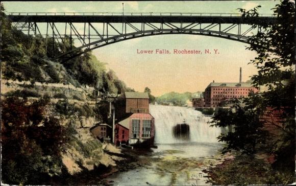 Ak Rochester New York USA, Lower Falls
