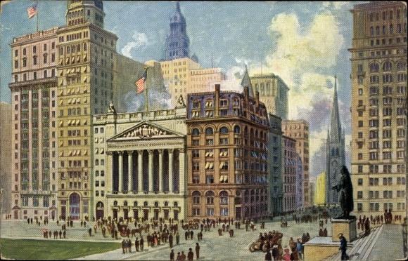 Ak New York City USA, Stock Exchange, Wallstreet, Broadstreet