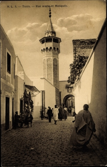 Ak Tunis Tunesien, Rue arabe et Mosquée