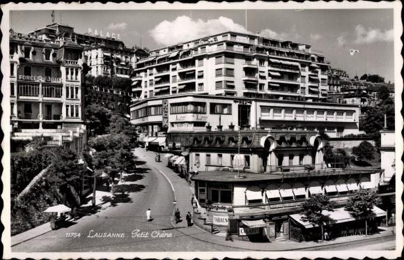 Ak Lausanne Kt. Waadt Schweiz, Petit Chene, Palace Hotel, Rex