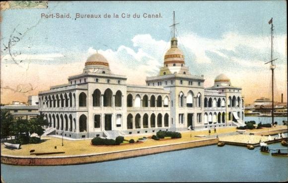 Ak Port Said Ägypten, Bureaux de la Compagnie du Canal