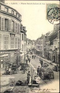 Ak Laon Aisne, Place Saint Julien et rue Saint Jean, Geschäfte, Autos