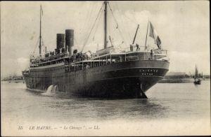 Ak Le Havre Seine Maritime, Paquebot Le Chicago, CGT
