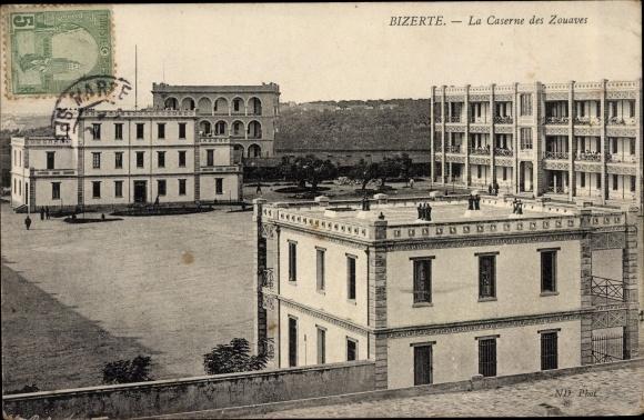 Ak Bizerte Tunesien, Las Caserne des Zouaves