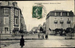 Ak Eygurande Corrèze, Entrée de la Gare