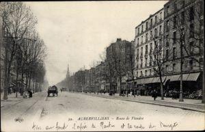 Ak Aubervilliers Seine Saint Denis, Route de Flandre