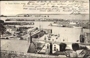 Ak St. Helier Jersey Kanalinseln, Harbour, Hafenpartie