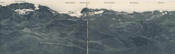 Klapp Ak Kanton Bern, Gross Strubel, Räzligletscher, Gletscherhorn, Wildhorn, Scheidehorn, Panorama