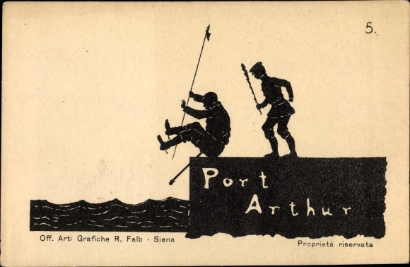 Scherenschnitt Ak Lüshunkou Port Arthur Dalian China, Tritt, Russisch japanischer Krieg, Nr 5