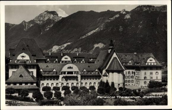 Ak Ingenbohl Kt. Schwyz Schweiz, Blick auf das Pensionat Theresianum, Ostfront