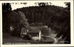 Ak Rohrbach in Thüringen, Blick zur Tal Mühle, Wald
