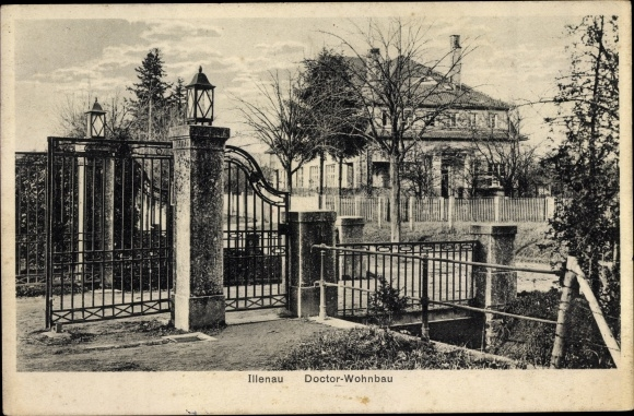 Ak Achern im Ortenaukreis Baden Württemberg, Heilanstalt Illenau, Doctor Wohnhaus