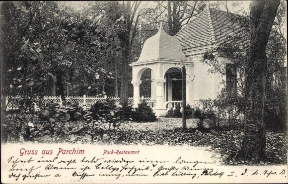 Ak Parchim in Mecklenburg Vorpommern, Parkrestaurant