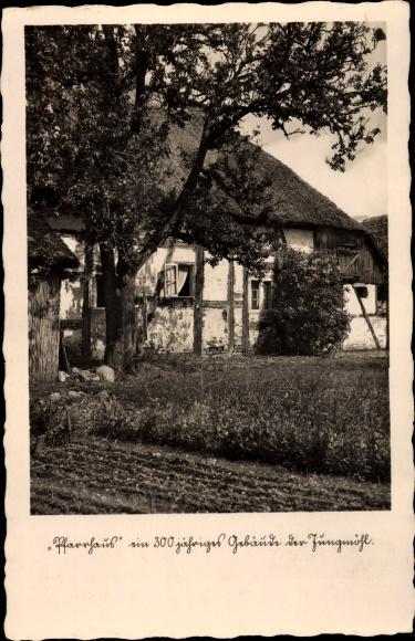 Ak Jungmöhl Ganzlin in Mecklenburg Vorpommern, Pfarrhaus