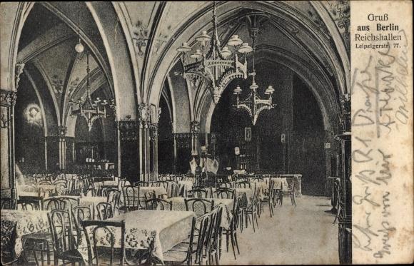 Ak Berlin Mitte, Reichshallen, Leipziger Str. 77, Innenansicht