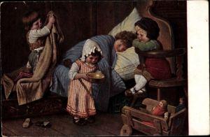 Künstler Ak Kaulbach, Hermann, Der eingebildete Kranke