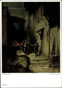 Künstler Ak Spitzweg, Carl, Die Scharwache