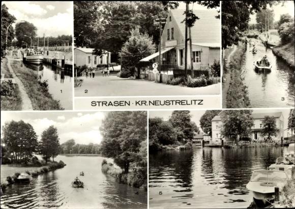 Ak Strasen Wesenberg Mecklenburg, MS Freundschaft in der Schleuse, Konsum