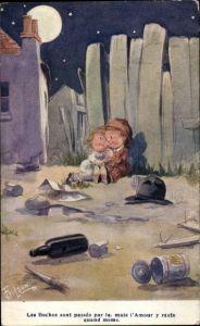 Künstler Ak Gilson, T., Les boches sont passés par la, mai l'amour y reste quand meme