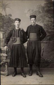 Foto Ak Zwei Zuaven in Uniformen, Zouaves