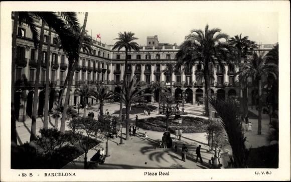 Ak Barcelona Katalonien, Plaza Real