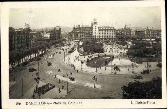 Ak Barcelona Katalonien, Plaza de Cataluna