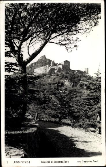 Ak Tarragona Katalonien Spanien, Castell d'Escornalbou