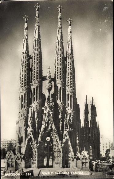 Ak Barcelona Katalonien, Templo Sagrada Familia
