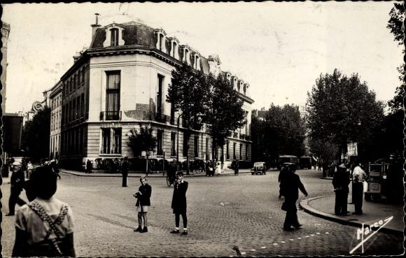 Ak Aubervilliers Seine Saint Denis, Carrefour de la Mairie