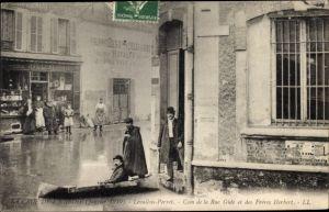 Ak Levallois Perret Hauts de Seine, Coin de la Rue Gide et Freres Herbert