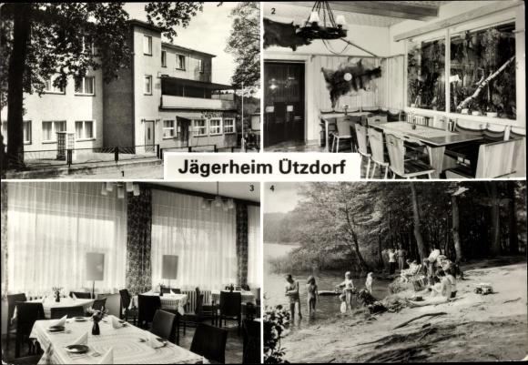Ak Lanke Wandlitz in Barnim, Jägerheim Ützdorf, Ferienheim VEB Spezialfahrzeugwerk Berlin