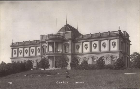 Ak Genève Genf Stadt, chateau L'Ariana