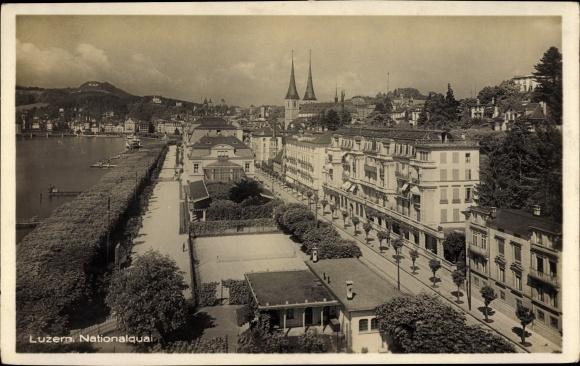 Ak Luzern Stadt Schweiz, Nationalkai