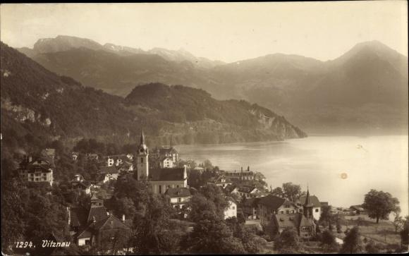 Ak Vitznau Kt. Luzern Schweiz, Panorama vom Ort