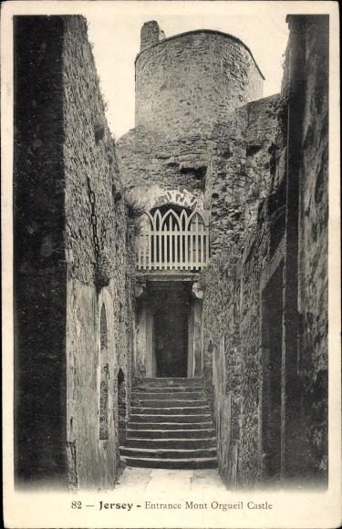 Ak Gorey Saint Martin Jersey Kanalinseln, Mont Orgueil Castle, Entrance