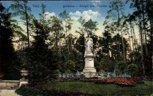 Ak Sowjetsk Tilsit Ostpreußen, Jacobsruh, Königin Luise Denkmal