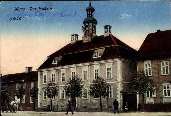 Ak Jelgava Mitau Lettland, Ansicht des Rathauses