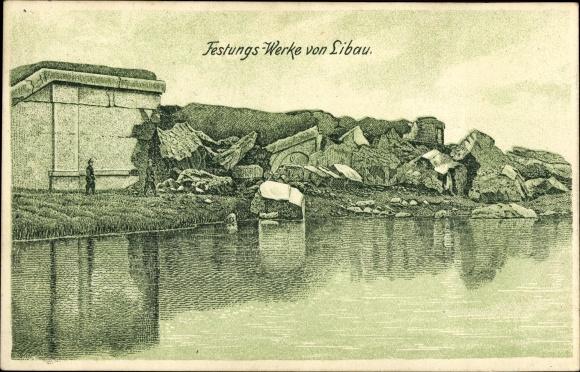 Ak Liepaja Libau Lettland, Festungswerke, Ruinen