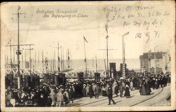 Ak Liepaja Libau Lettland, Hafenplatz