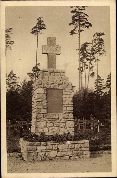 Ak Jelgava Mitau Lettland, Denkmal auf dem Ehrenfriedhof